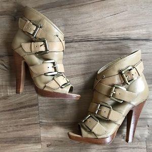 Aldo Tan Heel Boots Size 7